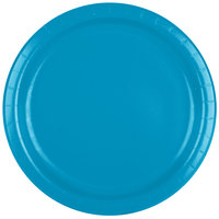 Creative Converting 473131B 9 inch Turquoise Blue Paper Plate - 24/Pack