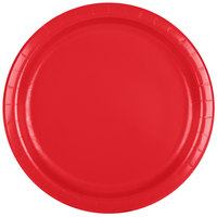 Creative Converting 471031B 9 inch Classic Red Paper Plate - 24/Pack