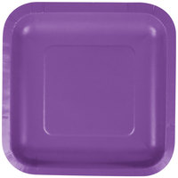 Creative Converting 318918 7 inch Amethyst Purple Square Paper Plate - 18/Pack