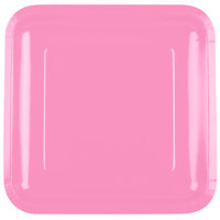 Creative Converting 463042 9 inch Candy Pink Square Paper Plate - 18/Pack