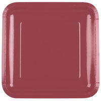 Creative Converting 463122 9 inch Burgundy Square Paper Plate - 18/Pack