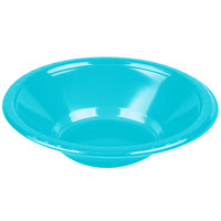 Creative Converting 28103951 12 oz. Bermuda Blue Plastic Bowl - 20/Pack