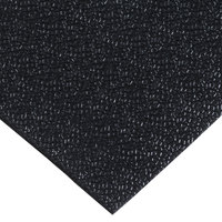 Cactus Mat 1001R-C4 48 inch x 60' Pro-Tekt Black Vinyl Carpet Protection Runner Mat - 1/8 inch Thick