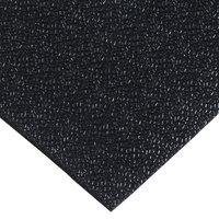 Cactus Mat 1001R-C4 48 inch x 60' Pro-Tekt Black Vinyl Carpet Protection Runner Mat - 1/8 inch Thick
