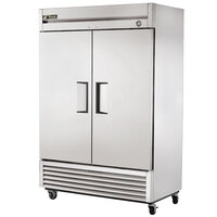 True T-49F-HC 54 inch Two Section Solid Door Reach In Freezer