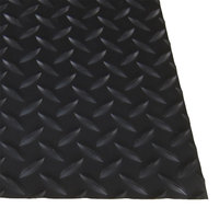Cactus Mat 1054M-C35 Cushion Diamond-Dekplate 3' x 5' Black Anti-Fatigue Mat - 9/16 inch Thick
