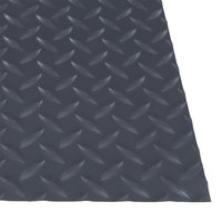 Cactus Mat 1054M-E35 Cushion Diamond-Dekplate 3' x 5' Gray Anti-Fatigue Mat - 9/16 inch Thick