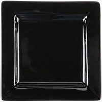 World Tableware SL-9-B Slate 9 inch Square Black Wide Rim Porcelain Plate - 12/Case