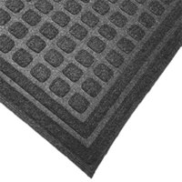 Cactus Mat 1508M-E46 Enviro-Tuff 4' x 6' Slate Gray Carpet Mat - 3/8 inch Thick