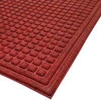 Cactus Mat 1508M-R46 Enviro-Tuff 4' x 6' Red / Black Carpet Mat - 3/8 inch Thick