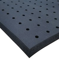 Cactus Mat 2200R-C3H Cloud-Runner 3' x 75' Black Grease-Proof Rubber Floor Mat Roll with Drainage Holes - 3/4 inch Thick