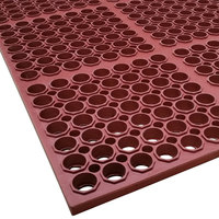 Cactus Mat 3520-R1 VIP Floormate 39 inch x 58 1/2 inch Red Heavy-Duty Grease-Resistant Rubber Anti-Fatigue Floor Mat - 7/8 inch Thick