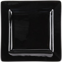World Tableware SL-6-B Slate 6 1/4 inch Black Wide Rim Square Porcelain Plate - 36/Case