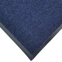 Cactus Mat 1471M-U34 3' x 4' Blue Olefin Carpet Entrance Floor Mat - 3/8 inch Thick