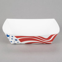 Southern Champion 536 #300 3 lb. USA Flag Paper Food Tray - 500 / Case