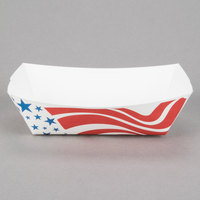 Southern Champion 534 #200 2 lb. USA Flag Paper Food Tray - 1000/Case