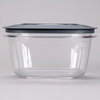 Rubbermaid 1937693 14 Cup Clear Square Premier Storage Container with Lid