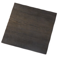 American Metalcraft MPSW 11 1/4 inch Square Walnut Melamine Serving Board