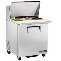 True TSSU-27-12M-C-ADA LH 27 inch Mega Top Sandwich / Salad Prep Refrigerator with Left-Hinged Door