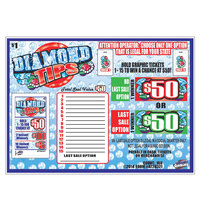 Diamond Tips Pack 1 Window Pull Tab Tickets - 168 Tickets per Deal - Total Payout: $120