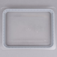 Cambro 20CWGL135 Camwear 1/2 Size Clear Polycarbonate GripLid