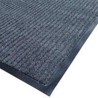 Cactus Mat 1485M-E31 3' x 10' Gray Needle Rib Carpet Mat - 3/8 inch Thick
