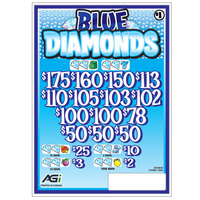 Blue Diamonds 3 Window Pull Tab Tickets - 2436 Tickets per Deal - Total Payout: $1935