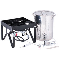 Backyard Pro Weekend Series 30 Qt. Turkey Fryer Kit with Stainless Steel Stock Pot and Accessories - 55,000 BTU