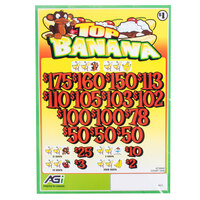 Top Banana 3 Window Pull Tab Tickets - 2436 Tickets per Deal - Total Payout: $1935