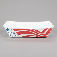 Southern Champion 537 #500 5 lb. USA Flag Paper Food Tray - 250 / Pack