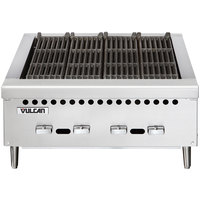 Vulcan VCRB36-1 Natural Gas 36 inch Low Profile Heavy-Duty Radiant Charbroiler - 87,000 BTU
