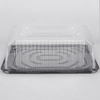 D&W Fine Pack G85-1 1/4 Size 2-3 Layer Sheet Cake Display Container with Clear Dome Lid   - 80/Case