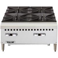 Vulcan VCRH24-1 Natural Gas 24 inch 4 Burner Countertop Range / Hot Plate - 100,000 BTU