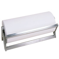 Bulman A503-18 Standard 18 inch Stainless Steel All-In-One Counter Mount / Freestanding Paper Dispenser / Cutter with Serrated Blade