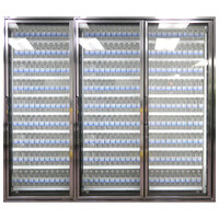 Styleline CL2472-NT Classic Plus 24 inch x 72 inch Walk-In Cooler Merchandiser Doors with Shelving - Anodized Satin Silver, Right Hinge - 3/Set