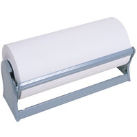Bulman A501-27 Standard 27 inch Gray Steel All-In-One Paper Dispenser / Cutter with Serrated Blade