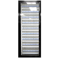 Styleline CL2472-NT Classic Plus 24 inch x 72 inch Walk-In Cooler Merchandiser Door with Shelving - Satin Black, Left Hinge