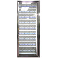 Styleline CL2672-NT Classic Plus 26 inch x 72 inch Walk-In Cooler Merchandiser Door with Shelving - Anodized Satin Silver, Right Hinge