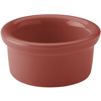Hall China 30362334 Paprika 2.5 oz. Colorations Round China Ramekin - 36/Case