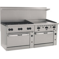 Vulcan 72CC-6B-36GT-N Endurance 6 Burner 72 inch Natural Gas Thermostatic Range with 36 inch Griddle and 2 Convection Ovens - 310,000 BTU