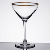 Cardinal Arcoroc L4642 Gold Rimmed 7.5 oz. Excalibur Madison Martini Glass - 24/Case