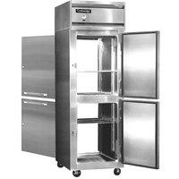 Continental Refrigerator 1R-SA-PT-HD 26 inch Solid Half Door Pass-Through Refrigerator