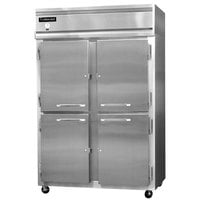 Continental Refrigerator 2RS-SA-HD 52 inch Solid Half Door Shallow Depth Reach In Refrigerator