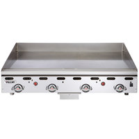 Vulcan MSA-72-102 72 inch Countertop Liquid Propane Griddle with Snap-Action Thermostatic Controls - 162,000 BTU