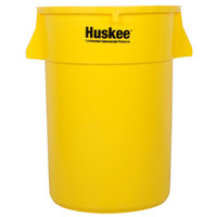 Continental 4444YW 44 Gallon Yellow Huskee Trash Can