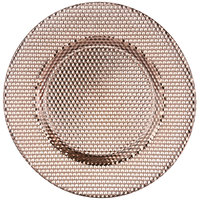 10 Strawberry Street DECO-340COP Deco 13 inch Copper Charger Plate