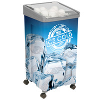 32 Qt. Gray Micro Mobile Merchandiser / Cooler - 16 inch x 16 inch x 32 inch