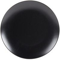 10 Strawberry Street WM-1-BLK Wazee Matte 10 1/2 inch Round Black Stoneware Dinner Plate - 24/Case
