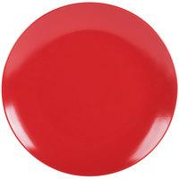 10 Strawberry Street WM-1-RED Wazee Matte 10 1/2 inch Round Red Stoneware Dinner Plate - 24/Case