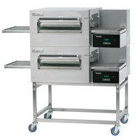Lincoln Impinger II 1100 Series Ventless Double Electric Conveyor Oven Package - 208V, 10 kW, 1 Phase